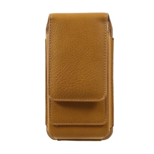 Elephant Texture Vertical Leather Holster Cover with 2 Card Slots for iPhone 7 6s 6, Inner Size: 14.5x7x1cm - Brown