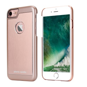 PIERRE CARDIN Heat Dissipation Hard Back Cover Case for iPhone 8/7 (Aluminum Alloy + PC) - Rose Gold