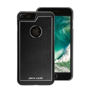 PIERRE CARDIN Breathable Back Cover Case for iPhone 7 Plus 5.5 inch (Aluminum Alloy + PC) - Black