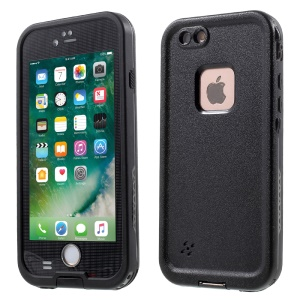 Waterproof Phone Case Plastic Hard Cover for iPhone 6s/6 4.7 - Black