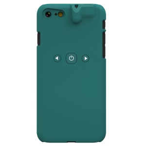 For iPhone 8 / 7 Bluetooth 4.1 Hard Shell Smart Case Cover with 3.5mm Earphone Jack Aux Audio Converter - Green