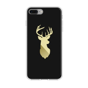 BCASE IMD Patterned TPU Phone Case for iPhone 7 Plus 5.5 inch - Black / Sexless Deer