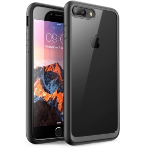 All Wrapped Edges Drop-resistant Mobile Case for iPhone 7 Plus 5.5 inch (Acrylic + TPU) - Black