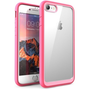 For iPhone 8 / iPhone 7 4.7 inch All Wrapped Edges Drop-proof Mobile Cover (Acrylic + TPU) - Pink