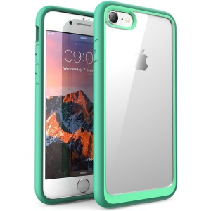 Shock-resistant TPU Edges Clear Acrylic Back Cover Case for iPhone 8 / iPhone 7 4.7 inch - Green
