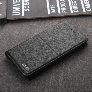 GEBEI Card Holder Leather Stand Mobile Phone Case for iPhone 7 Plus 5.5 inch - Black