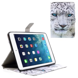 Printing Pattern Wallet Leather Stand Case for iPad mini 3/2/1 - Leopard