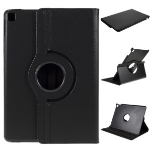 For iPad Air 10.5 (2019) / Pro 10.5 (2017) / 10.2 (2020) (2019) 360-Rotary Stand Leather Tablet Case Litchi Grain - Black