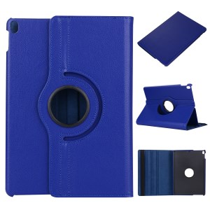 For iPad Pro 10.5 inch (2017) 360 Rotary Stand Leather Case Tablet Cover - Blue