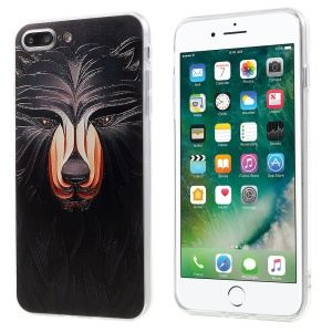 EDIVIA Embossment Black Lion Pattern TPU Back Case Cover for iPhone 7 Plus 5.5 inch