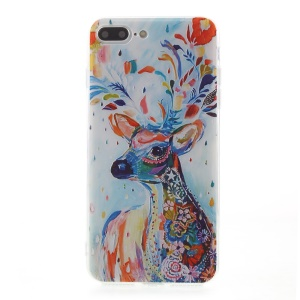 EDIVIA Embossment Colorful Elk Pattern TPU Cell Phone Case for iPhone 7 Plus 5.5 inch