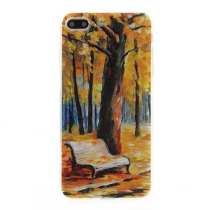 EDIVIA Embossment Oil Painting Autumn Pattern TPU Phone Case for iPhone 7 Plus 5.5 inch