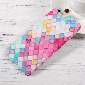 Embossed Pattern Matte PC Hard Case for iPhone 6s Plus/6 Plus - Colorful Mermaid Scale