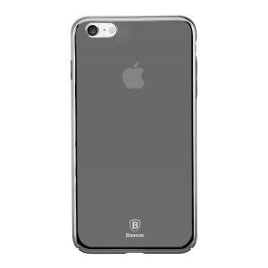 BASEUS Glass Case Gradual Changing Color PC Hard Case for iPhone 6s / 6 4.7 inch - Mirror Black