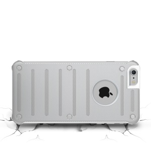 BOW Hollow Mesh Metal + PC Phone Case for iPhone 6s 6 - Silver