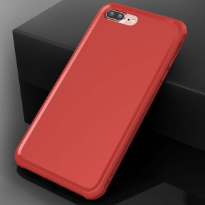 BOW Anti-fingerprint Matte Soft TPU Cover Case for iPhone 8 Plus / 7 Plus 5.5 inch - Red