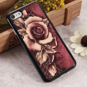 2D Heat Transfer Printing Aluminum Sheet Skin PC Hard Cover for iPhone 6s / 6 - Gothic Rose