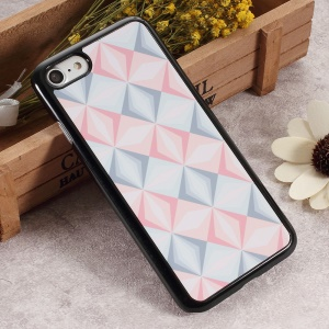 2D Heat Transfer Printing Aluminum Sheet Skin Hard Phone Cover for iPhone 6s / 6s - Geometric Figure