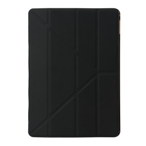 # # Y Shape Origami Stand glatte Oberfläche Smart Leather Case für iPad 9,7-inch (2017)-Black # #