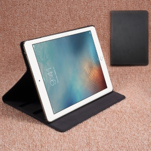DOORMOON Genuine Leather Smart Case for iPad 9.7 inch (2017) - Black