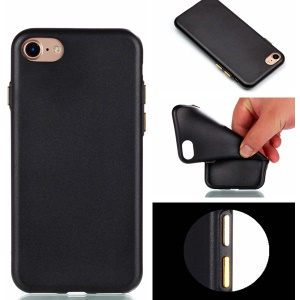 Rubberized Soft TPU Cell Phone Case for iPhone 7 4.7 inch - Black