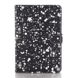 Starry Sky Pattern Smart Awakening Stand Leather Card Holder Folio Case Accessory for iPad Mini 3 2 1 - White