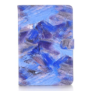 Para iPad Mini 3 2 1 Mistura Graffiti Pattern Leather Wallet Stand Shell - Tom azul