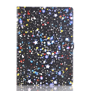 For iPad Pro 12.9 inch Starry Sky Pattern Stand Leather Wallet Flip Case - Blue