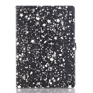 Starry Sky Pattern Stand Leather Card Holder Folio Case Accessory for iPad Pro 12.9 inch - White