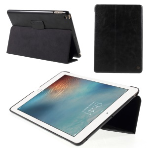 G-CASE PU Leather Flip Case for iPad 9.7 (2018) / 9.7 (2017) - Black