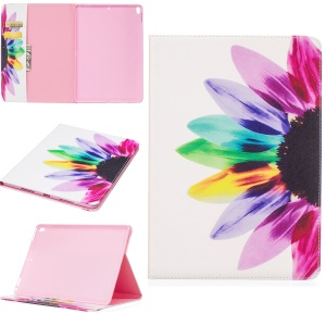 Pattern Printing PU Leather Wallet Stand Cover for iPad Air 10.5 (2019) / Pro 10.5-inch (2017) - Colorful Petals