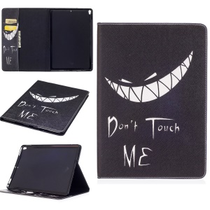 Pattern Printing Wallet Stand Leather Shell for iPad Pro 10.5-inch - Do Not Touch Me