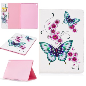 Pattern Printing PU Leather Wallet Cover Case for iPad Pro 10.5-inch - Butterflies and Flowers