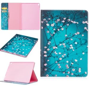 Pattern Printing Leather Case with Stand for iPad Pro 10.5-inch - Tree with Flowers