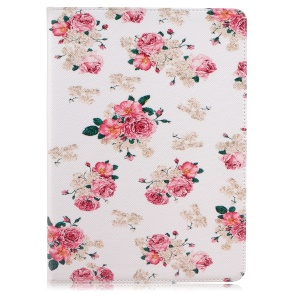 Patterned Wallet Leather Flip Cover for iPad Pro 9.7 inch - Beautiful Peonies