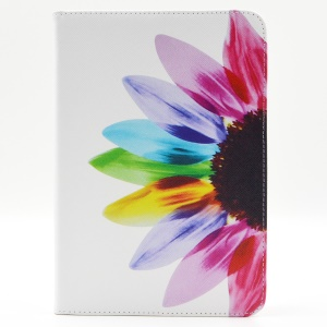 Pattern Printing Leather Wallet Protection Case for iPad mini 1 2 3 - Colorful Petals