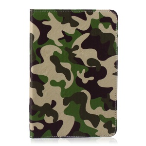 Pattern Printing Leather Wallet Protection Shell for iPad mini 1 2 3 - Camouflage