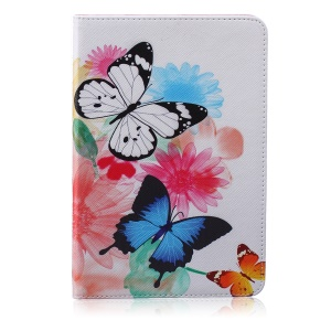 Patterned Wallet Leather Case Accessory for iPad mini 1 2 3 - Vivid Butterflies