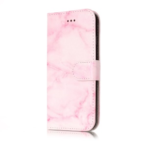 For iPhone 8 / 7 4.7 inch Pattern Printing Wallet Leather Smartphone Case Accessory - Rose Marble Pattern