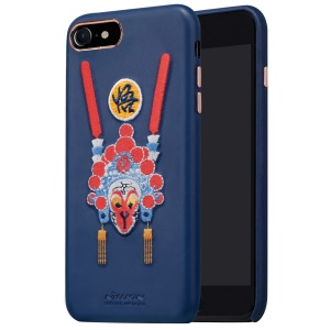 NILLKIN for iPhone 7 Brocade Case Chinese Embroidery Leather Coated PC Back Shell - Monkey King