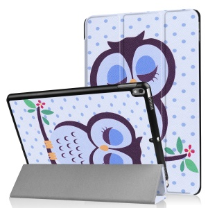Tri-fold Leather Patterned Stand Shell for Huawei MediaPad T2 7.0 - Sleeping Owl
