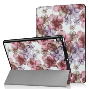 Patterned Leather Tri-fold Stand Case for Huawei MediaPad T2 7.0 - Retro Flowers