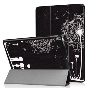 Patterned Leather Tri-fold Stand Cover for Huawei MediaPad T2 7.0 - Dandelions and Lovers