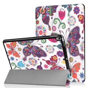 Patterned Leather Tri-fold Stand Cover for Huawei MediaPad T2 7.0 - Colorized Butterflies and Flowers