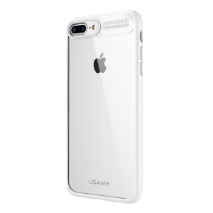 USAMS Mant Series Clear PC + TPU Bumper Hybrid Cover for iPhone 8 Plus / 7 Plus 5.5 inch - White