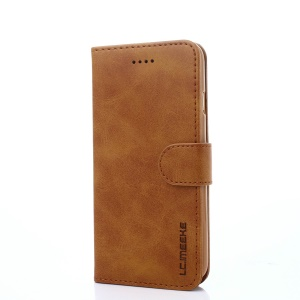 LC.IMEEKE PU Leather Protection Cell Phone Case with Card Slots for iPhone SE (2nd generation)/8/7 4.7 inch - Brown