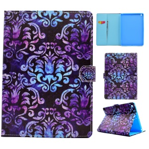Pattern Printing Leather Wallet Tablet Case for iPad 9.7 (2017) - Damask Flowers