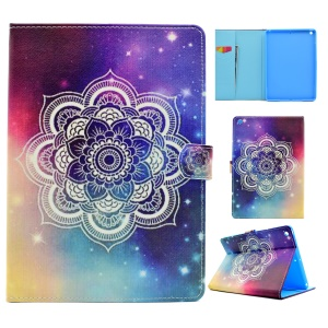 Pattern Printing Leather Wallet Tablet Case for iPad 9.7 (2017) - Henna Lotus