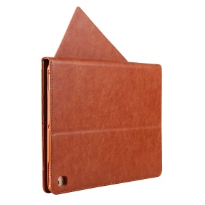 CMAI2 Card Slots Stylus Pen Holder Leather Protective Cover with Stand for iPad Pro 9.7 inch - Brown