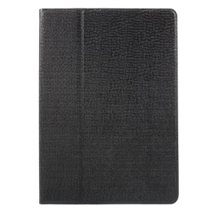 360 Degree Rotary Stand Smart Leather Case for iPad 9.7 (2017) - Black
